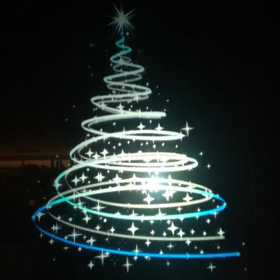 L'albero di Natale è un ologramma
